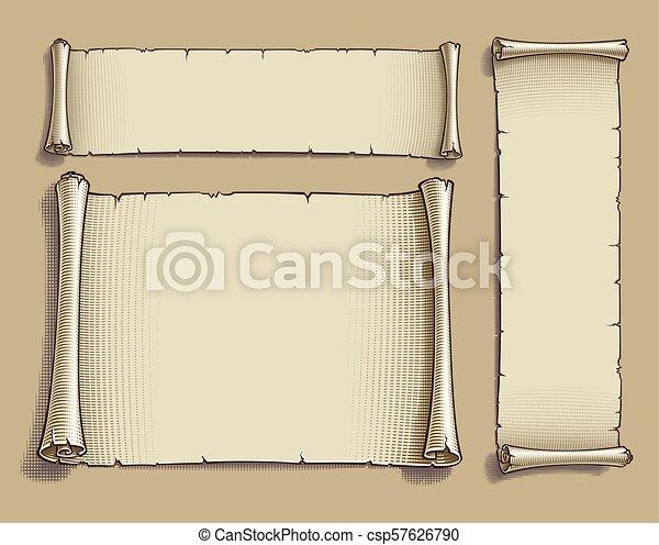 karikatúra, bevésett, cikornyázik, három - csp57626790