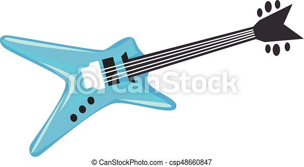 karikatúra, gitár, elektromos - csp48660847