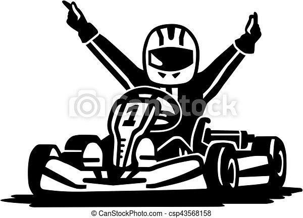kart, nyertes, versenyzés - csp43568158