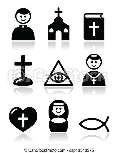 katolikus, templom, vallás, ikonok - csp13548375
