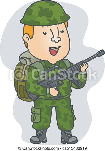 katona, foglalkozás - csp15438919