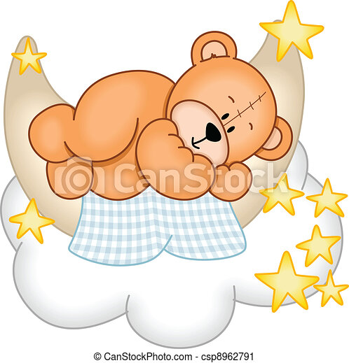 kellemes, álmodik, hord, teddy-mackó - csp8962791