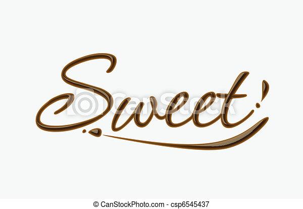 kellemes, csokoládé, szöveg - csp6545437