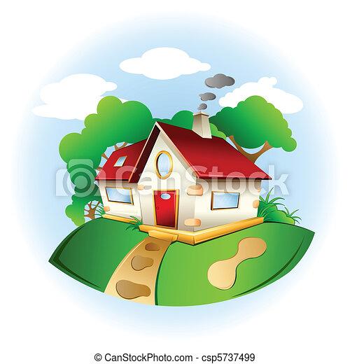 kellemes, otthon - csp5737499