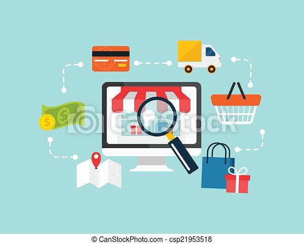 kereskedelem, vektor, kelet, részvény - csp21953518