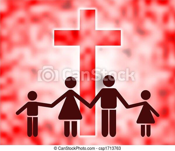 keresztény, család - csp1713763