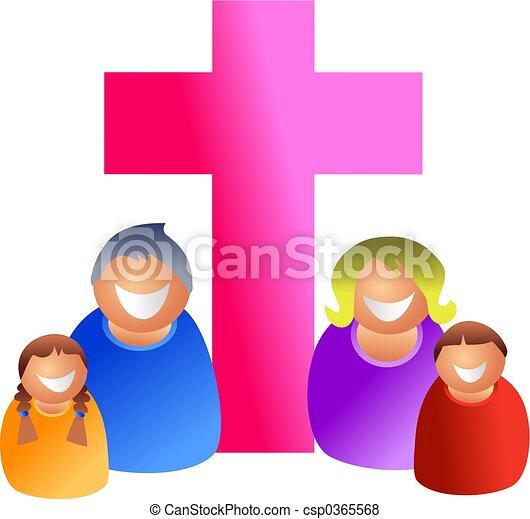 keresztény, család - csp0365568