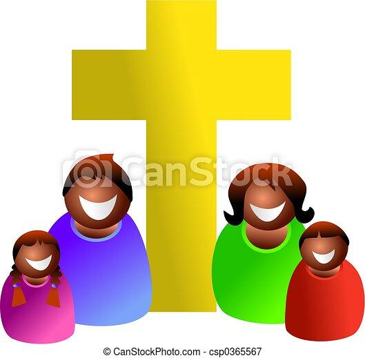 keresztény, család - csp0365567