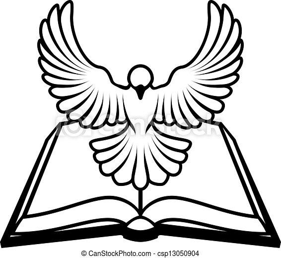 keresztény, fogalom, galamb, biblia - csp13050904