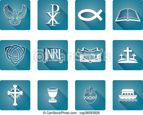 keresztény, ikonok - csp36583826