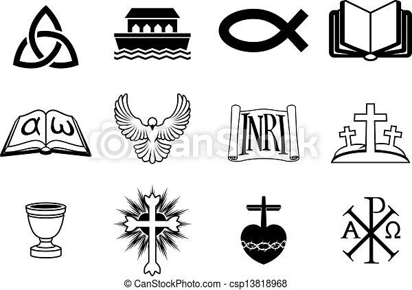 keresztény, ikonok - csp13818968