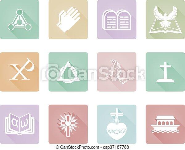 keresztény, ikonok - csp37187788