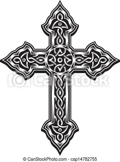 keresztény, kereszt, választékos - csp14782755