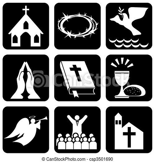 kereszténység, vallásos, cégtábla - csp3501690