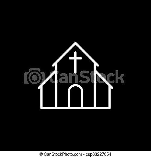 kereszténység, vallásos, templom, ikonok, vektor, cégtábla, jelkép - csp83227054