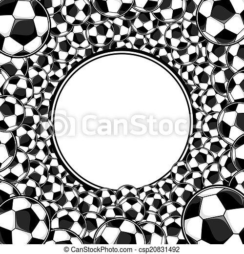 keret, futball, háttér, herék - csp20831492
