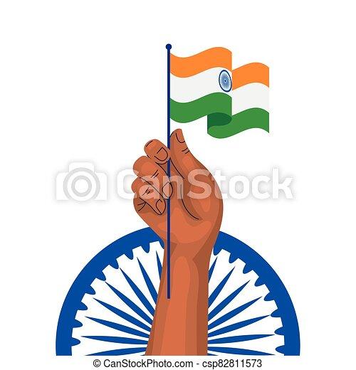 kezezés tol, háttér, india, indian lobogó, ashoka, fehér, kék, jelkép - csp82811573