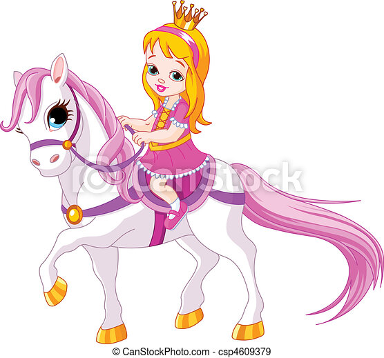 kicsi hercegnő, ló - csp4609379