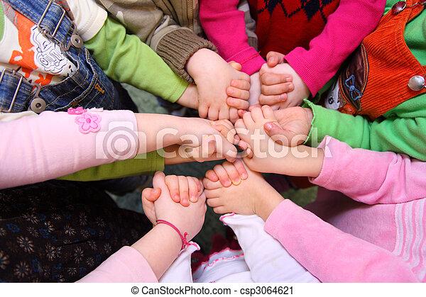 kilátás, áll, kézbesít, összeillesztett, gyerekek, birtoklás, tető - csp3064621