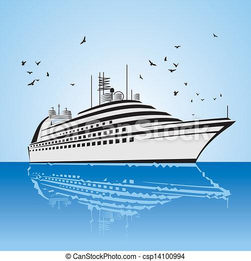 kilátás, nagyon, cirkálás, gyakorlatias, hajó - csp14100994