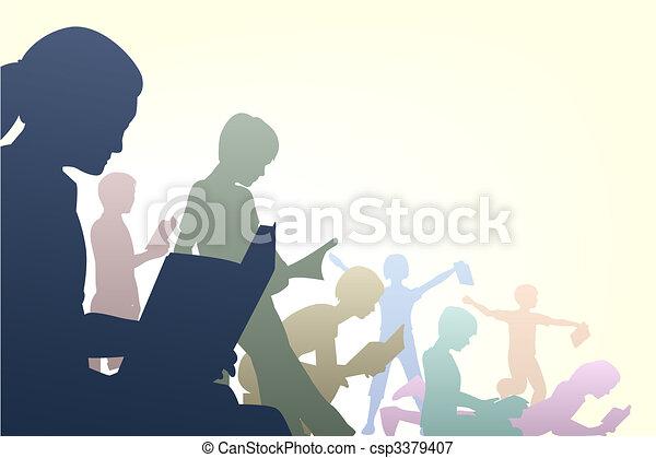 klub, könyv - csp3379407