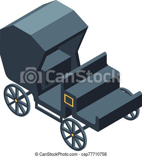 kocsi, csukott, mód, ikon, isometric - csp77710758