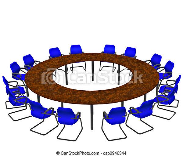 konferencia asztal - csp0946344