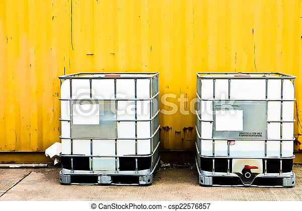 konténer, rakomány, sárga, fehér - csp22576857