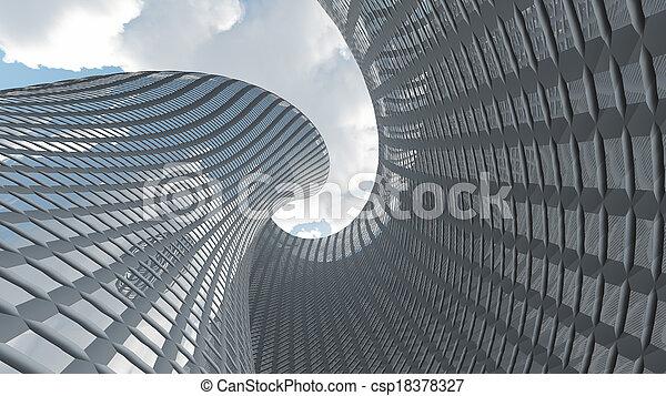 kortárs építészet - csp18378327