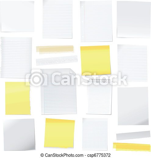 kottapapír, vektor, post-it - csp6775372