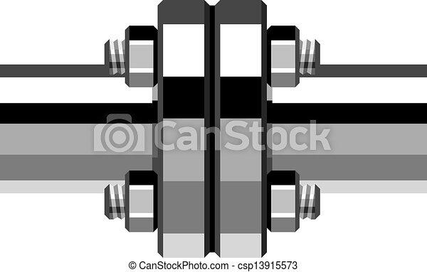 króm, pipa, vektor, karima - csp13915573
