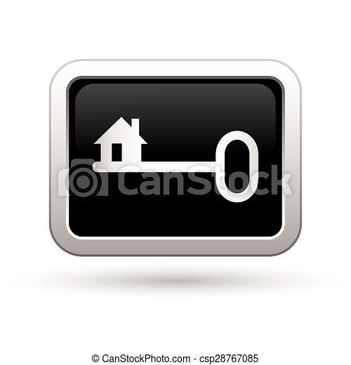 kulcs, icon., ábra, vektor - csp28767085