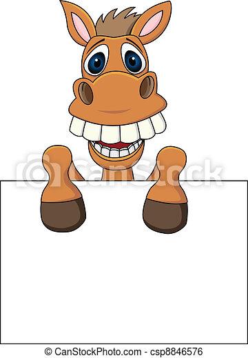 ló, üres cégtábla - csp8846576