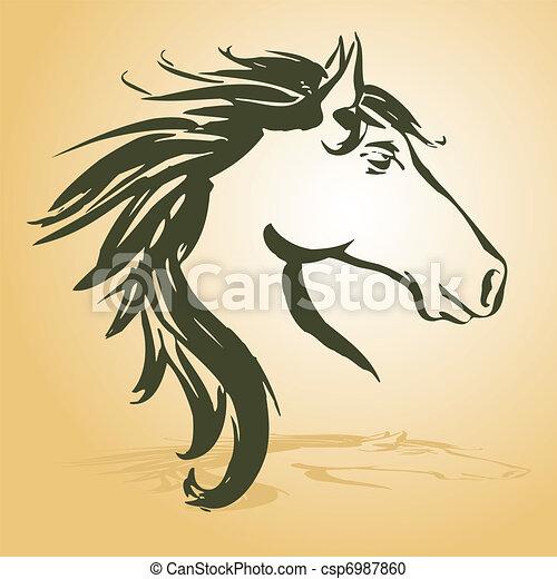 ló, fej - csp6987860