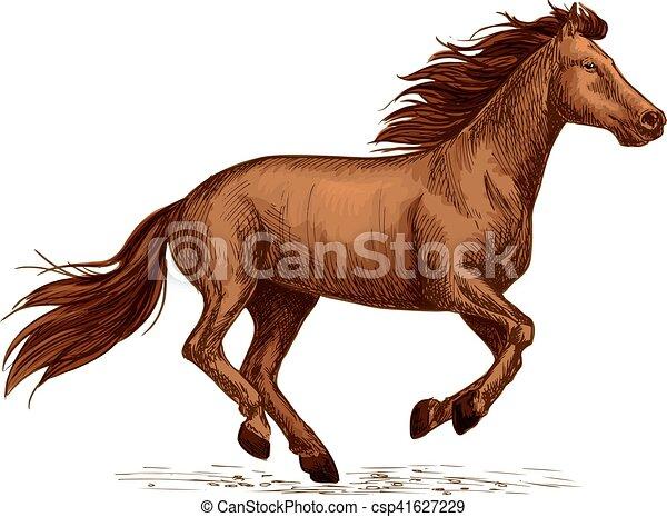 ló, jelkép, csődör, lóverseny, sport, versenyzés, cégtábla. - csp41627229
