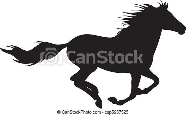 ló, vektor, árnykép - csp5937525