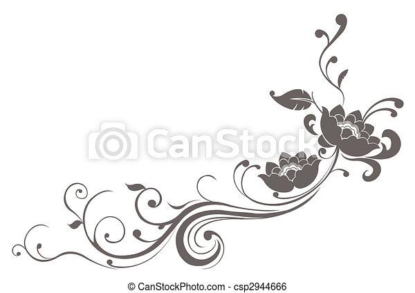 lótusz, motívum, virág - csp2944666