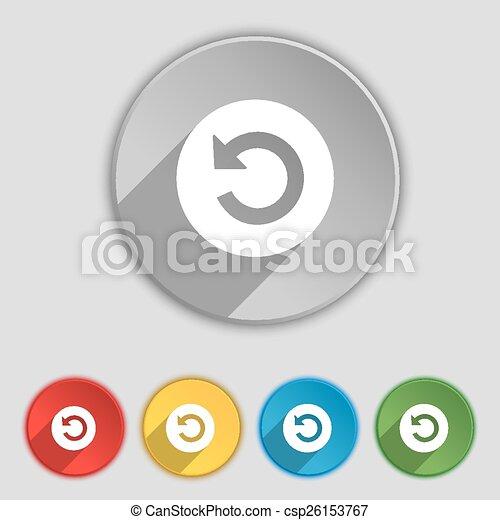 lakás, buttons., cégtábla., vektor, öt, jelkép, ikon - csp26153767