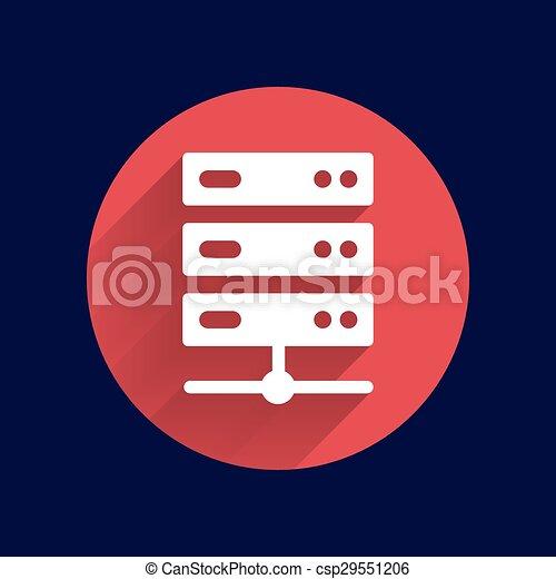 lakás, computer rendszer, ábra, ministráns, vektor, ikon - csp29551206