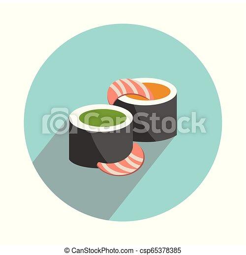 lakás, fehér, állhatatos, sushi, háttér - csp65378385