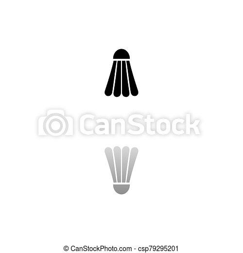 lakás, ikon, tollaslabda, tollaslabda - csp79295201
