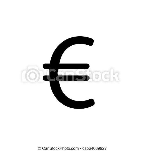lakás, illustration., jelkép, vektor, (sign), icon., euro - csp64089927