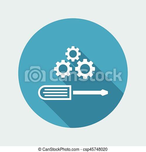 lakás, kreatív, dolgozó, ikon - csp45748020