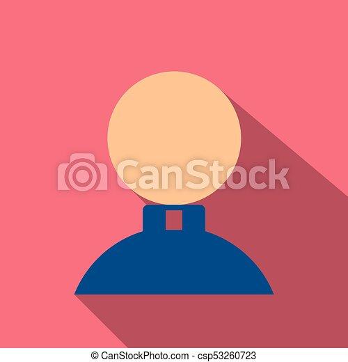 lakás, mód, ikon, árnyék, ember - csp53260723