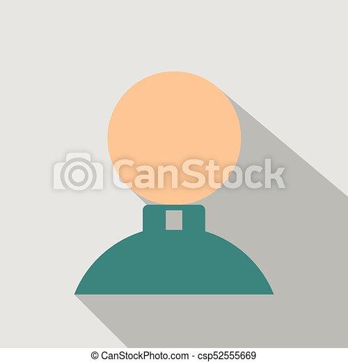 lakás, mód, ikon, árnyék, ember - csp52555669