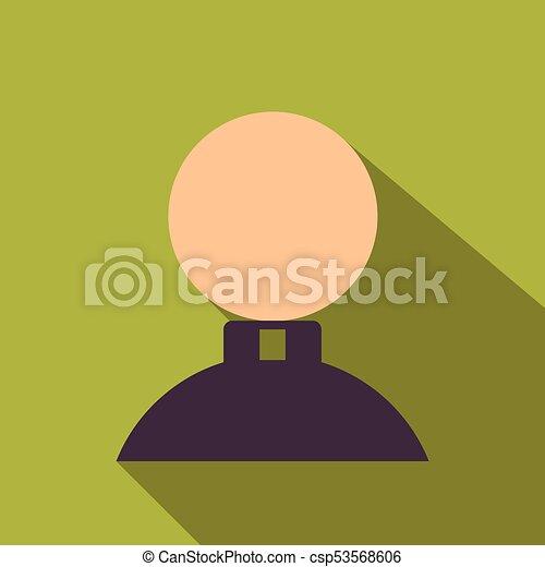 lakás, mód, ikon, árnyék, ember - csp53568606