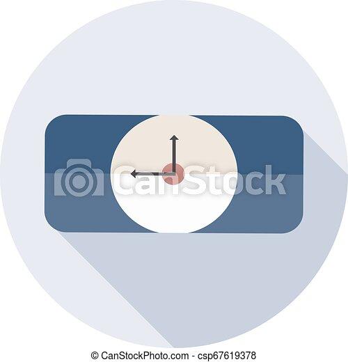 lakás, mód, karóra, hosszú, árnyék, ikon - csp67619378