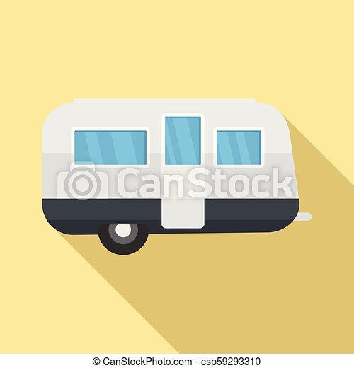 lakás, mód, utazás, retro, ikon, kúszónövény - csp59293310