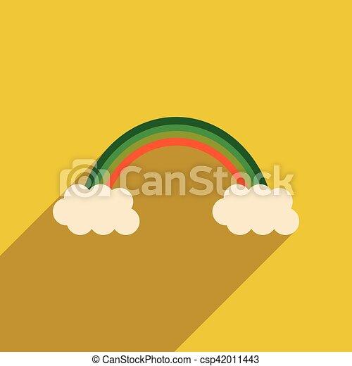 lakás, szivárvány, háló, hosszú, árnyék, ikon - csp42011443