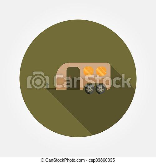 lakás, utazás, icon., kúszónövény - csp33860035